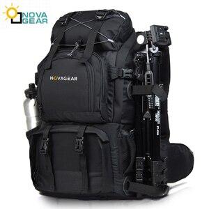 Image 1 - Сумка NOVAGEAR 80302 на два плеча для камеры, водонепроницаемая ударопрочная уличная сумка большой емкости для SLR камеры, подходит для 17 дюймового ноутбука