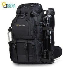 Novagear 80302 saco da câmera do dobro ombro impermeável à prova de choque ao ar livre grande capacidade slr saco da câmera colocar 17 inch portátil