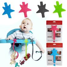 Toys Teether-Chain Baby-Stroller-Hook Silicone Bottle Pacifier Portable Star Buckle-Strap