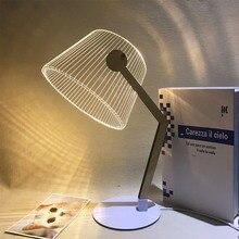 3D Vision настольная лампа теплый белый светодиодный Настольный светильник деревянный акриловый кронштейн с питанием от USB светодиодный ночник гостиная прикроватная лампа для чтения