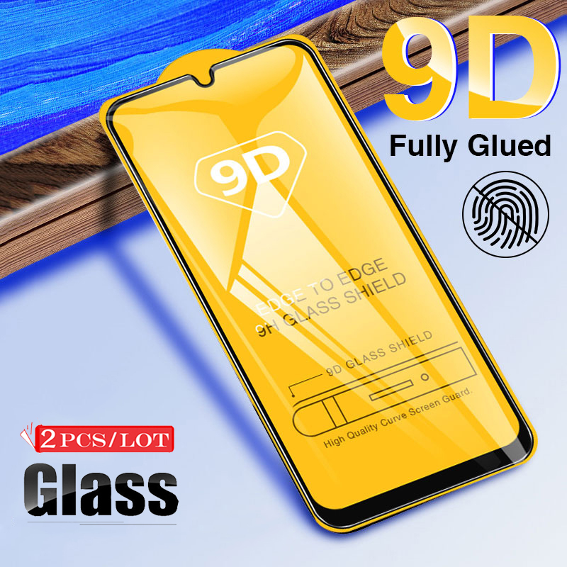 2 Pcs 9D Protective Glass for Samsung A50 Screen Protector Film for Samsung Galaxy A10 A20 A30 A40 A70 Full Tempered Glass Film