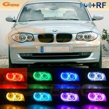 מעולה RF מרחוק Bluetooth App רב צבע Ultra מואר RGB LED ערכת עיני מלאך עבור BMW 1 סדרת E81 e82 E87 E88 2004 2012
