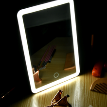 Lighted Vanity-Mirror Table Makeup Touch-Screen-Switch Usb-Charging-Light Travel