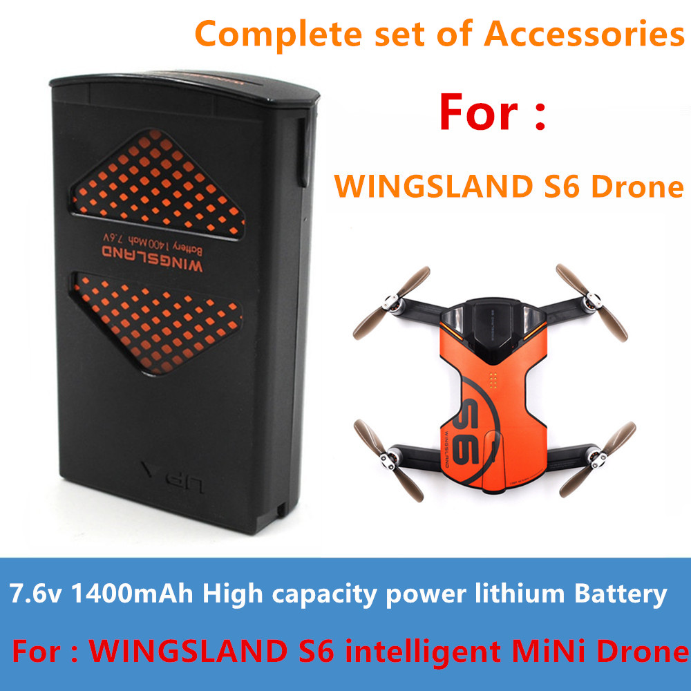 For Wingsland S6 RC Drone Original Complete set Spare Part Battery/ Propeller blade /LED Searchlight bullet ball Etc Accessories image