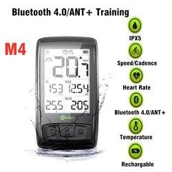 Bezprzewodowy komputer rowerowy Meilan z czujnikiem tętna w klatce piersiowej prędkościomierz rowerowy Bluetooth 4.0 ANT licznik rowerowy