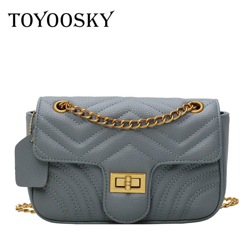 TOYOOSKY Chain Shoulder Bags for Women 2019 Luxury Handbags Designer Famous Brands Ladies Leather Messenger Bag Sac A Main