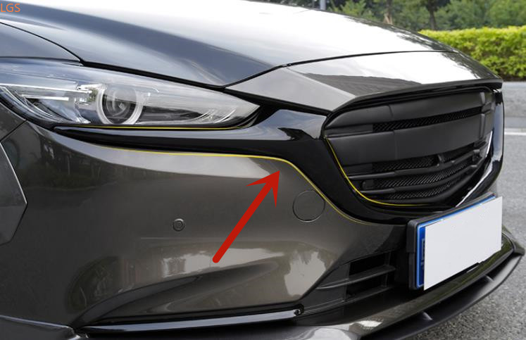 For Mazda 6 ATENZA 2017-2020 High-quality ABS Chrome Front grille Decorative strip Anti-scratch protection Car styling