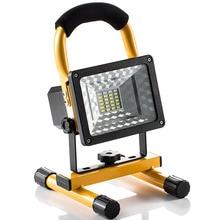 30W wodoodporne światło halogenowe Outdoor 24 reflektor led przenośny 220v akumulator reflektor reflektor praca lampa budowlana