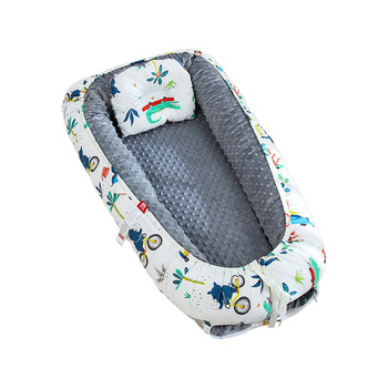 Portable Baby Nest Bed Crib Travel Bed for Boys Girls Pillow Infant Cotton Cradle Newborn Lounger Baby Bassinet Bumper Bed