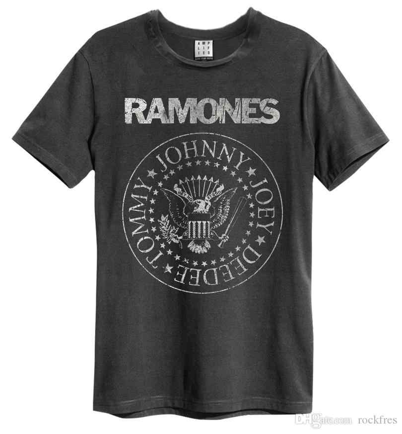 vintage Ramones Punk Rock Band Music Tour Biker T-shirt Men top Tees