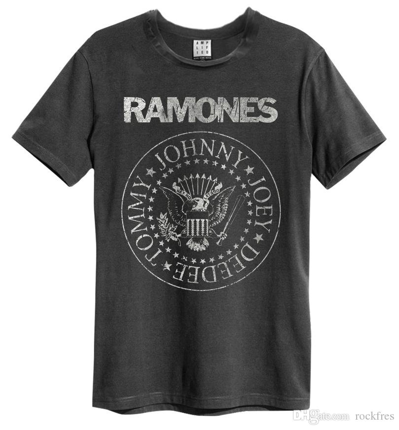 Vintage Ramones Punk <font><b>Rock</b></font> <font><b>Band</b></font> Musik Tour Biker <font><b>T</b></font>-<font><b>shirt</b></font> Männer top Tees image