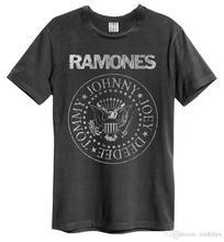 vintage Ramones Punk Rock Band Music Tour Biker T-shirt Men top Tees