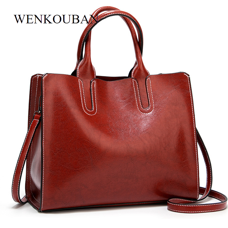 Leather Handbags Big Women Bag High Quality Casual Female Bags  Women's Ladies Luxury Designer Large Capacity Sac A Main Femm