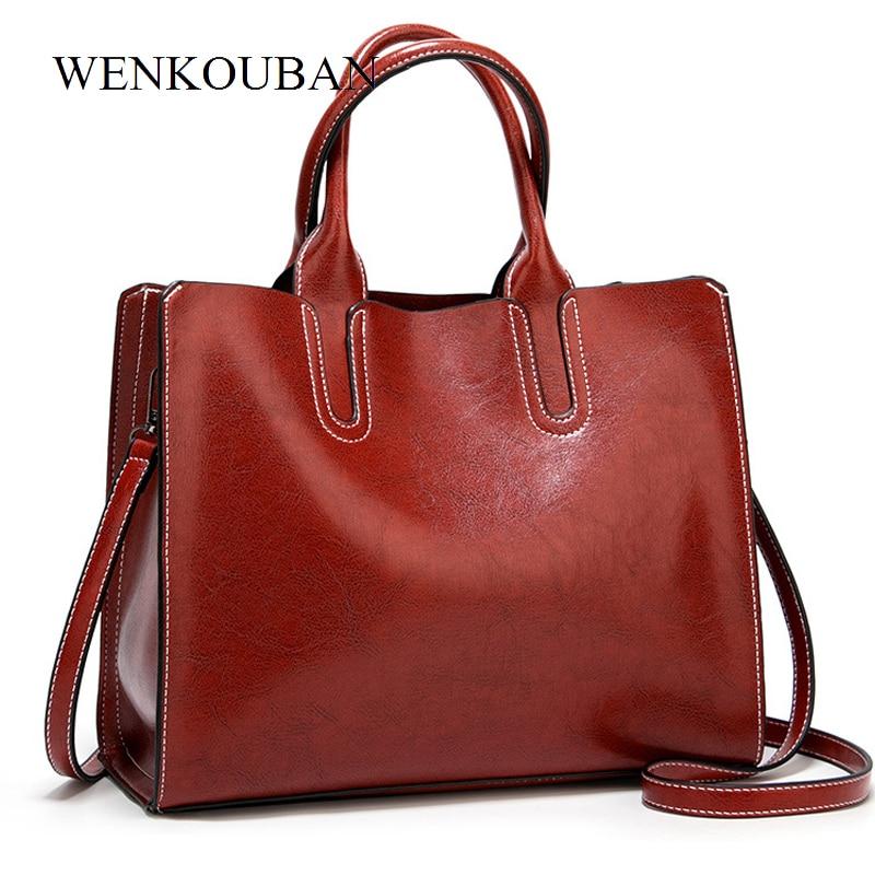 Leather Handbags Big Women Bag High Quality Casual Female Bags  Women's Ladies Luxury Designer Large Capacity Sac A Main Femm