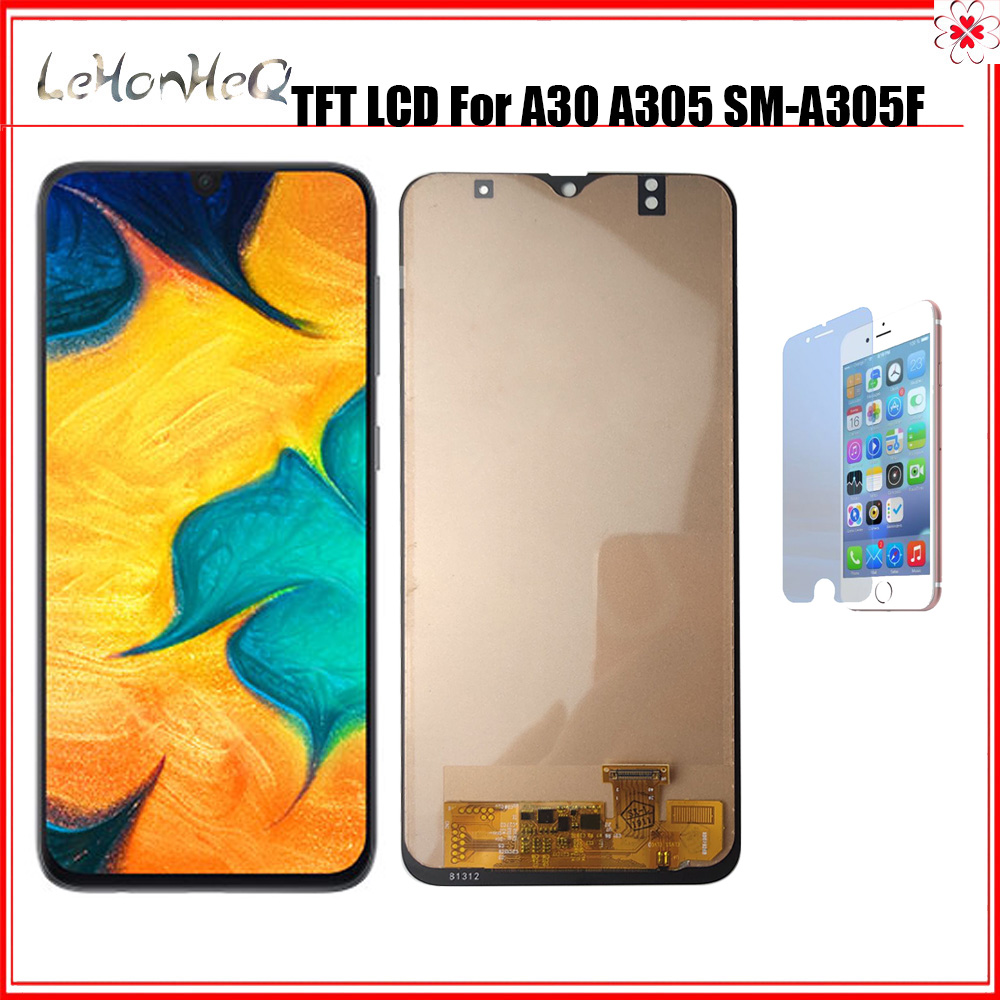 TFT 6.4'' <font><b>LCD</b></font> For <font><b>Samsung</b></font> <font><b>Galaxy</b></font> <font><b>A30</b></font> 2019 A305 A305/DS A305F A305FD A305A Display Touch Screen Digitizer Assembly Replacement image