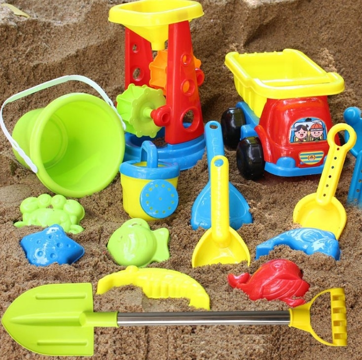 Outdoor Children Beach Sand Toys For Kids Beach Cart Games Kinetic Sand Box Mold Brinquedo Praia Unique Toys For Kids CC50BT