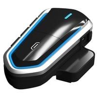 Mayitr 1 Set B35 bluetooth 4.1 Motorcycle Helmet Headset Waterproof Motor Intercom Interphone Headphones FM Radio Blue/Black