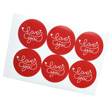 60pcs/lot LOVE YOU Multi Paper Adhesive Sealing Label Red Decorative Seal Sticker Gifts Packing for Handmade Products