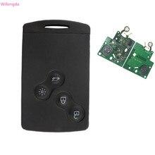 Wilongda clé intelligente à 4 boutons, 2013 MHz, FSK, accessoire sans clé Hitag AES 434, pour voiture renault clio