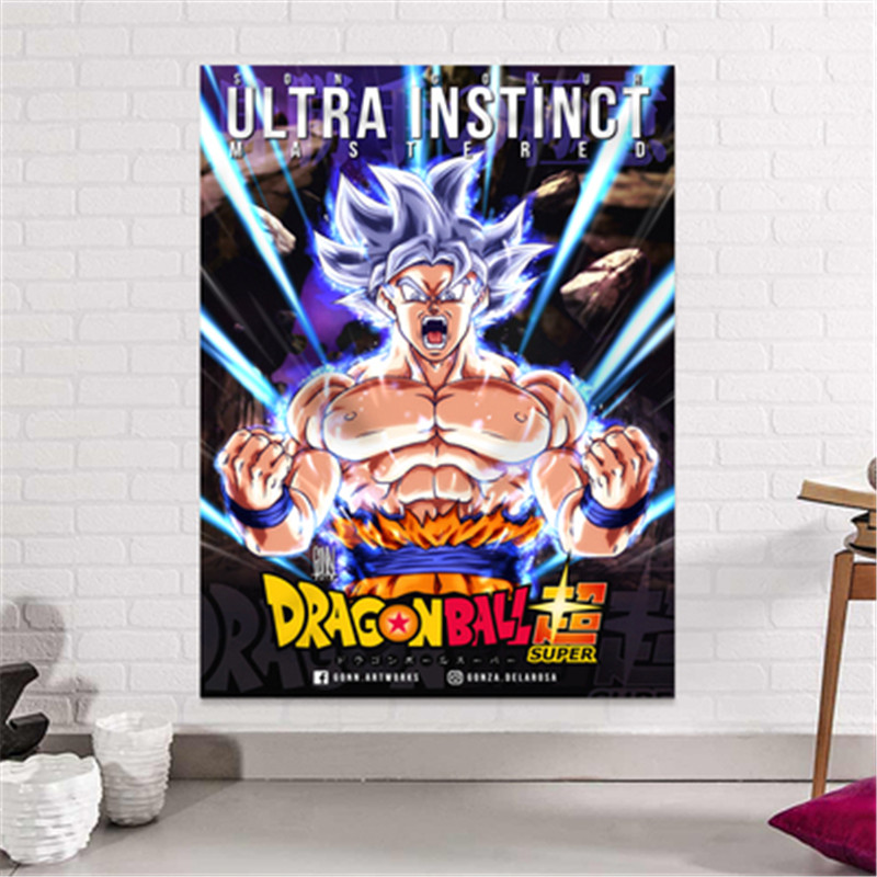Dragon Ball Son Goku impression dortoir fond tissu Action Figure Anime maison décorative tissu tapisserie X2589