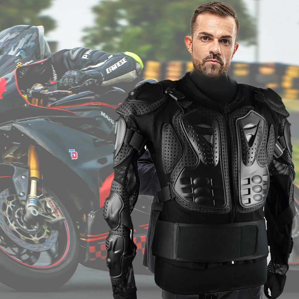Motorcycle Jacket, Protective Jacket - Professional Motorcycle Body Protection Motocross Racing Full Body Armor Spine Chest