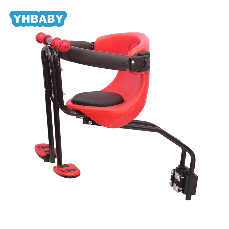 Child Bicycle Seat Front Baby Seat Pedal Kids Seat Support Soft Cushion Baby With Armrest Pedal Cyclin