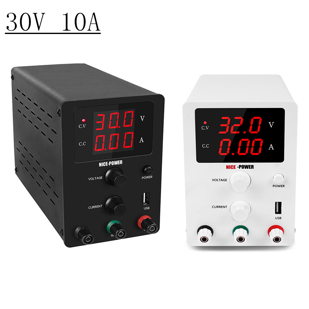 New High precision Voltage Regulated Lab Power Supply 30V 10A Power Supplies Adjustable Voltage And Current Regulator 30 V-in Voltage Regulators/Stabilizers from Home Improvement