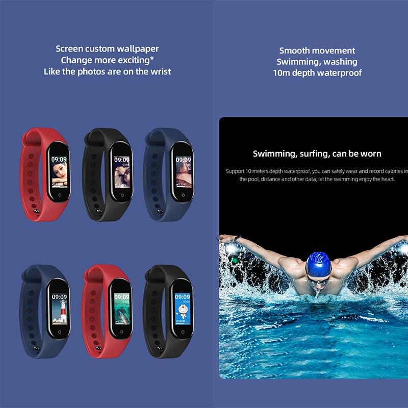 Schnoah Fitness bande podomètre Bracelet intelligent moniteur de fréquence cardiaque Bracelet natation étanche montres pour xiaomi iphone téléphone - 3