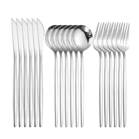 Silber Besteck Gabel Löffel Messer Set Spiegel Geschirr Gabel Löffel Messer Set Edelstahl Besteck Löffel Dining Set Geschirr