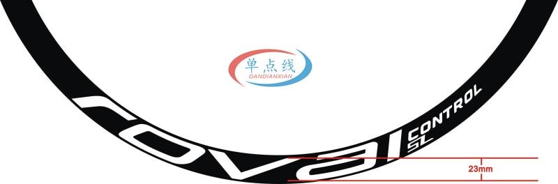 MYSdd Autocollant de v/élo v/élo de Montagne Roval Control SL29 Pouces 25mm Large Jante Jeu de Roues Autocollant de Couleur Autocollant de Jante VTT d/égrad/é Bleu