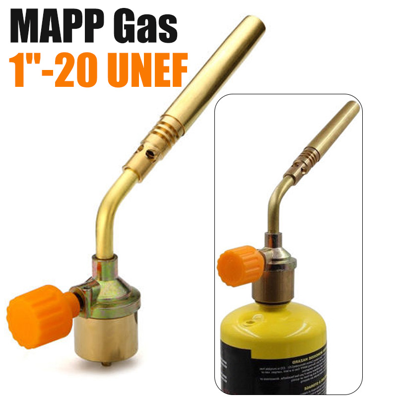 Brass Welding Torch MAPP Propane Gas Torch Self Ignition Trigger Style Heating Solder Burner Welding Plumbing Nozzles Camping