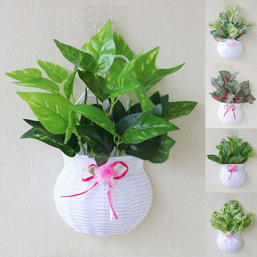 Parede pendurado plantador vaso de flores planta potes cesta titular artificial pendurado potes varanda jardim decoração para casa