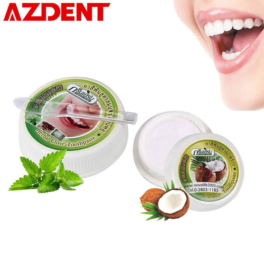 35g Advanced Whitening Toothpaste 10g Coconut flavor 25g Herbal Clove/Mint Flavor Teeth Care Whitening Anticavity Toothpaste