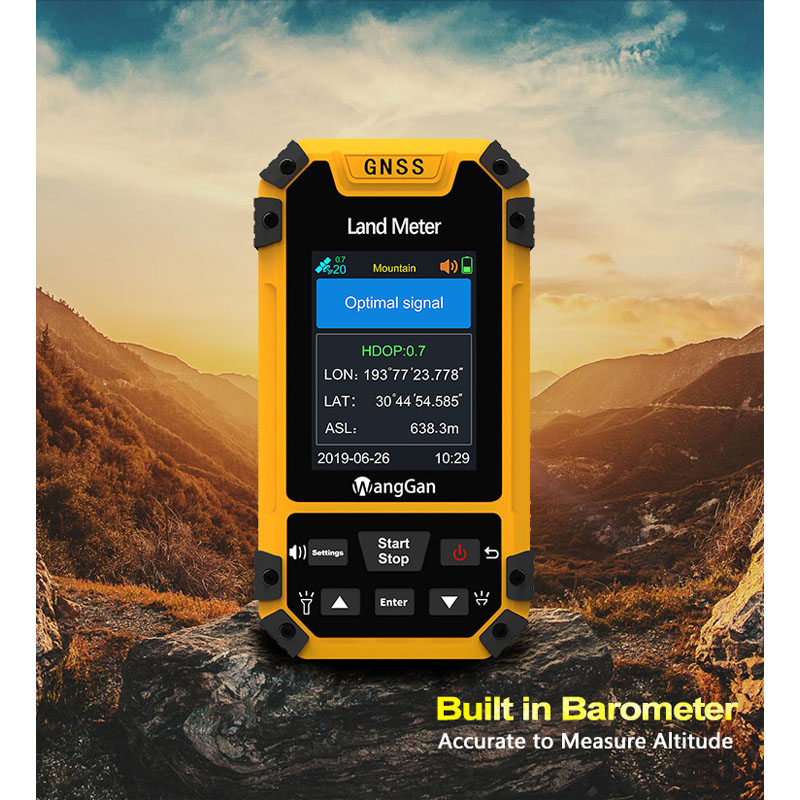 Land Meter Receiver Meter Measure Land Machine GPS Color GNSS Screen Professional Area Surveying S4 Measurement Land Meter