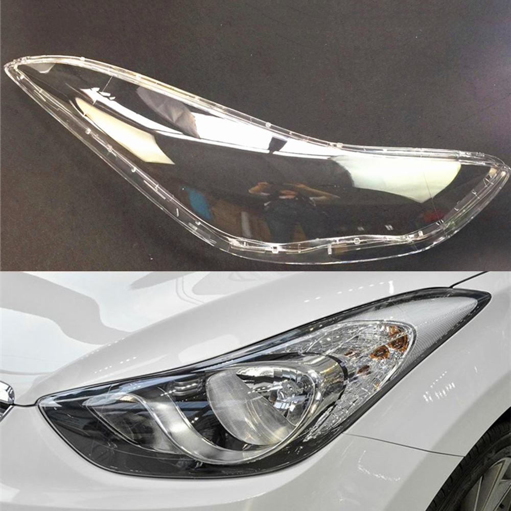 Car Headlight Lens For Hyundai Elantra 2012 2013 2014 2015 2016 Headlamp Lens Car  Replacement   Auto Shell Cover