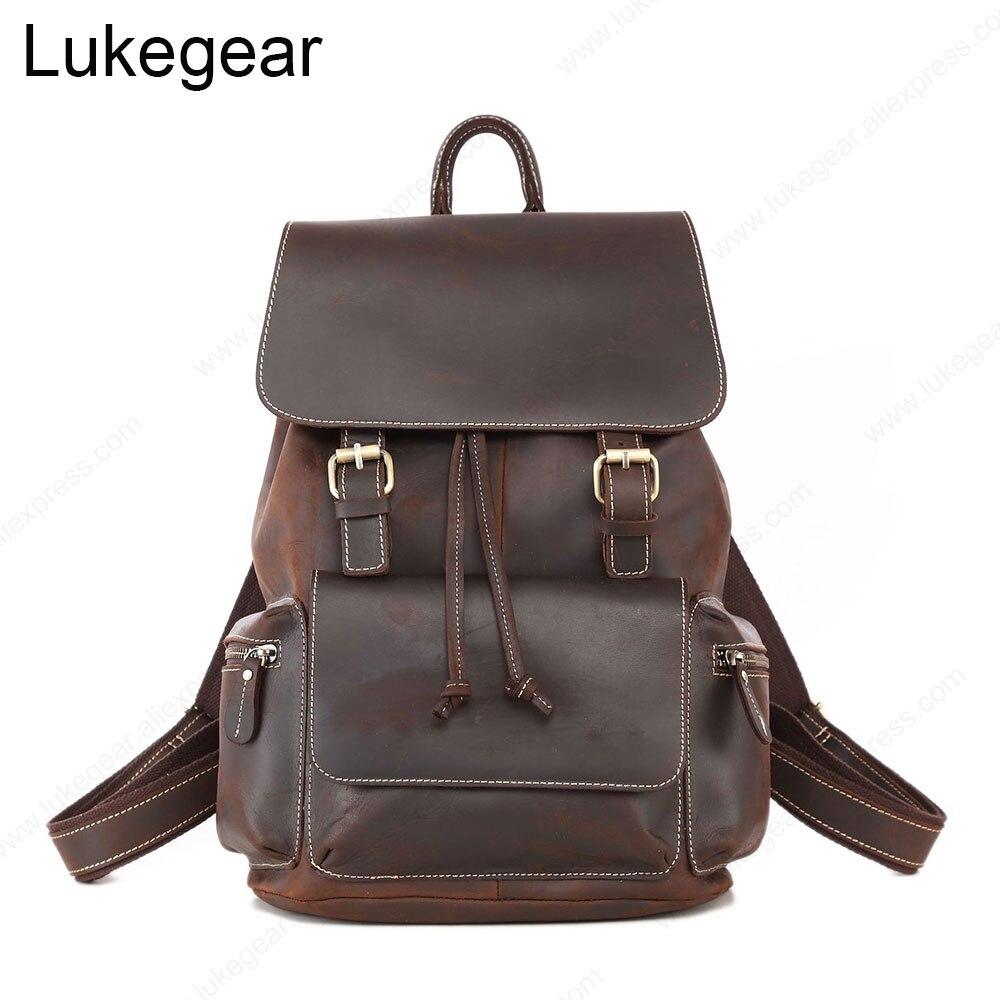 Женский рюкзак ручной работы из натуральной кожи, рюкзаки для путешествий, высококачественные школьные сумки из прочного материала