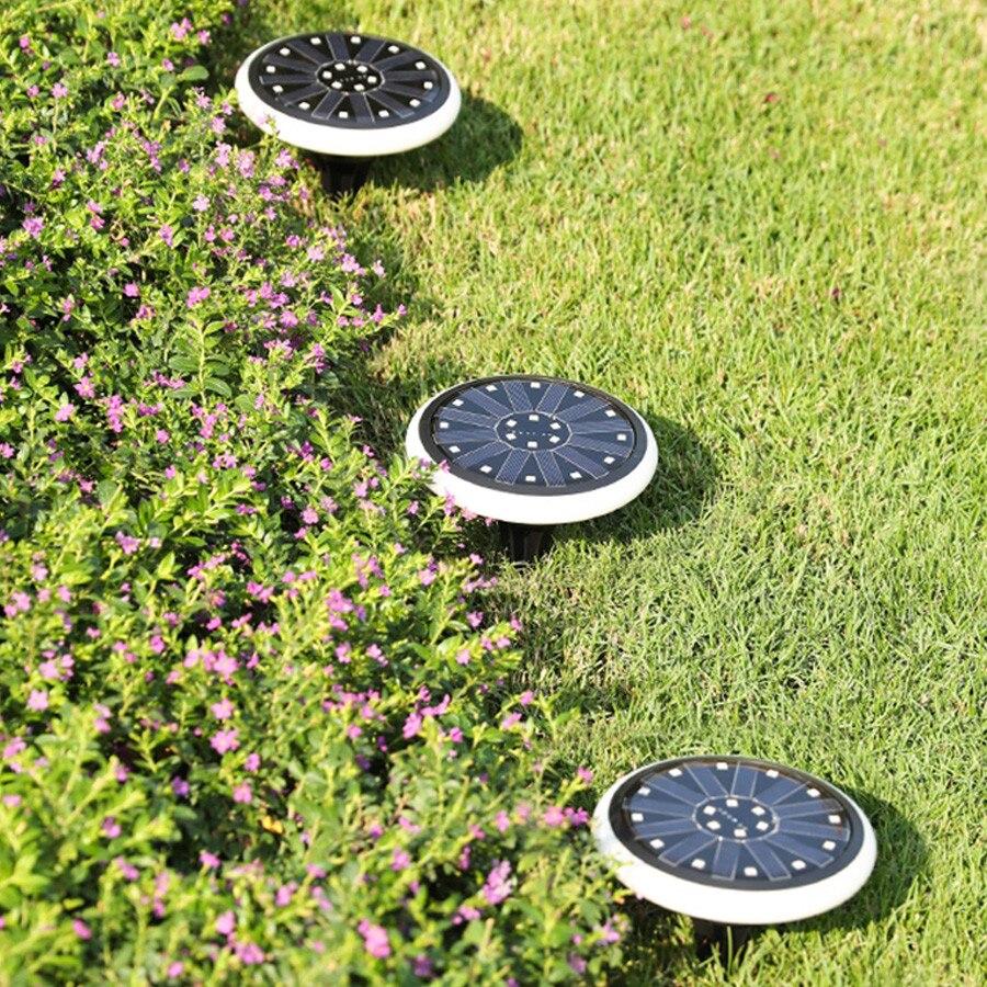 luz de segurança ao ar livre caminho do jardim solar deck luz chão