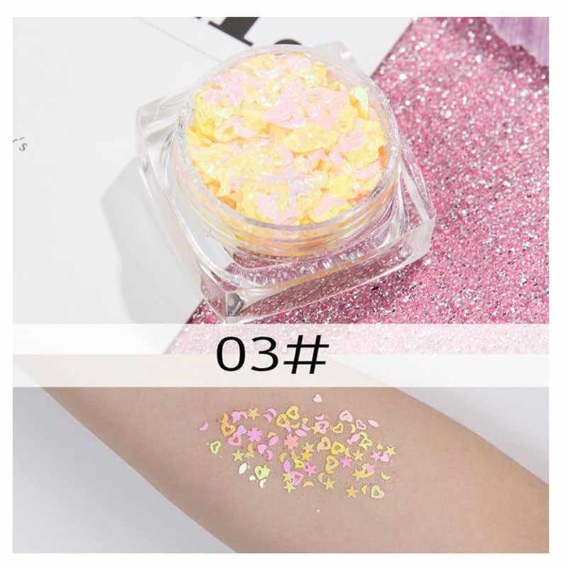 Mermaid Jelly Gezicht Glitter Gel Gezicht Juwelen Body Gezicht Sequin Gel Holografische Chunky Glitter Flash Boor Festival Decoratie