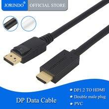 JORINDO activo Cable de DP a HDMI (DP1.2) 6ft DisplayPort a HDMI 4K x 2K y 3D de Audio/Video Eyefinity Multi-Pantalla de 1,8 M