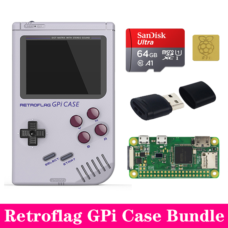 New Arrival Original Retroflag GPi Case Kit With Heat Sink For Raspberry Pi Zero W V1.3 GPi Case Box Enclosure