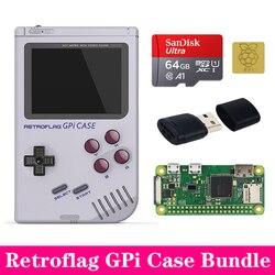 New Arrival Original Retroflag GPi Case kit with Heat Sink for Raspberry Pi Zero W V1.3 GPi Case Box Enclosure