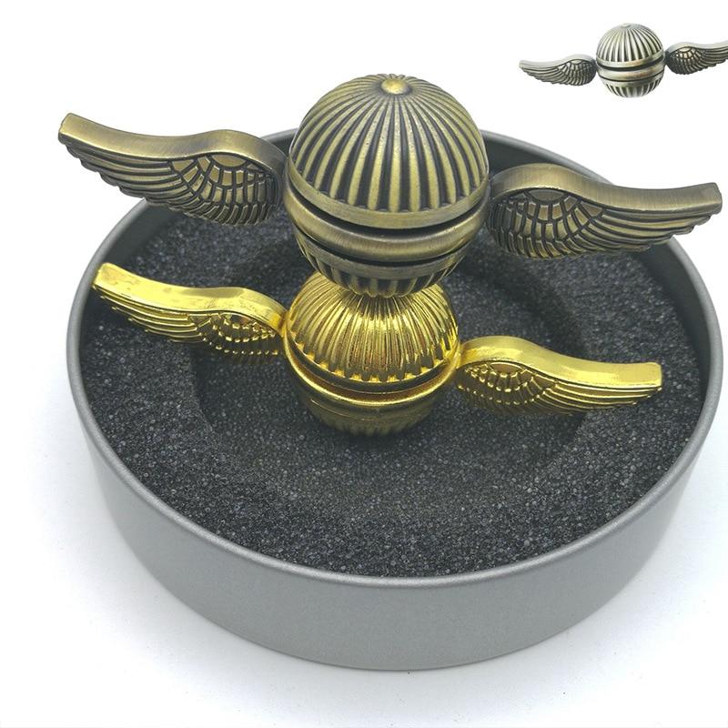 EDC Golden Hand Spinner Metal Cupid Fingertip Gyro Angel Wing Finger Rotary Spiner Kinetic Toys Gift Adult