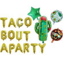 Décorations mexicaines Fiesta thème anniversaire | Feuille d'aluminium Cactus Taco Bout a fête bébé Taco Bout amour ballon Globos