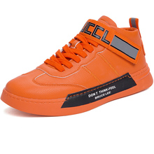 Men Brand Superstar Thick Sole Leather High Top Fashion Snea