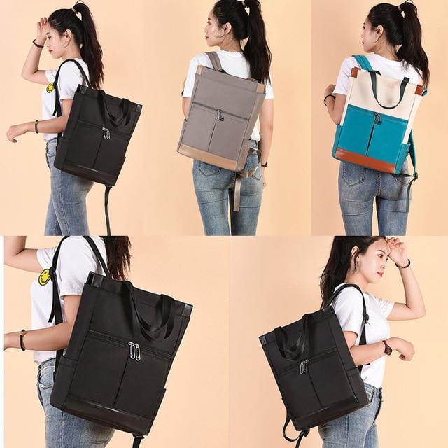 Oxford Women Backpacks Girls Book Bags Fashion Lady Shoulder Backpack Waterproof Anti-theft Business Bag Teenage Girl Laptop Bag 6
