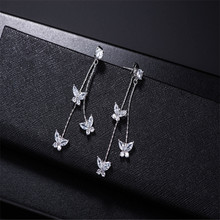 925 sterling silver earrings Set auger Personality grow flowers Womens fashion jewelry wholesale