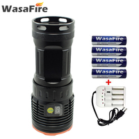 Powerful 8000LM 8 LED V3 Led Flashlight Waterproof 4 Modes Torch Rechargeable Self Defence Lantern with 18650 Battery+Charger