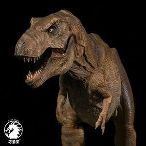 Image 1 - Stokta var!!W ejderha 1:35 ölçekli Rexy heykeli kadın Tyrannosaurus Rex Jurassic dinozor t rex toplayıcı Dino yetişkinler oyuncak hediye