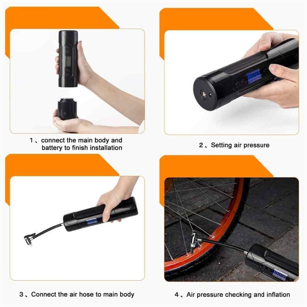 Bombas de aire portátiles para coches Inflador de neumáticos eléctrico 12V bomba de bicicleta de coche inflable LCD Digital recargable para Auto emergencia