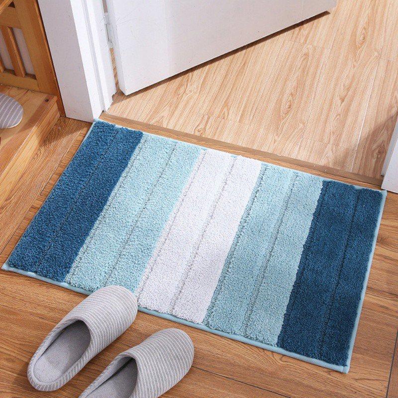 Tapis de sol créatif tapis de salle de bain rayures concises motif paillasson absorbant anti-dérapant tapis tapis tapis tapis zone couverture